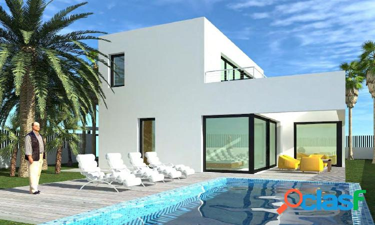Villa de nueva construcción de estilo moderno andando a la playa de calpe