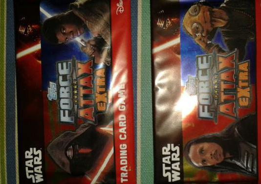 Star wars force attax extra card game