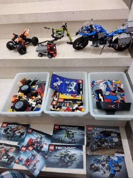 Lote lego technic moto bmw 42063 quad piezas
