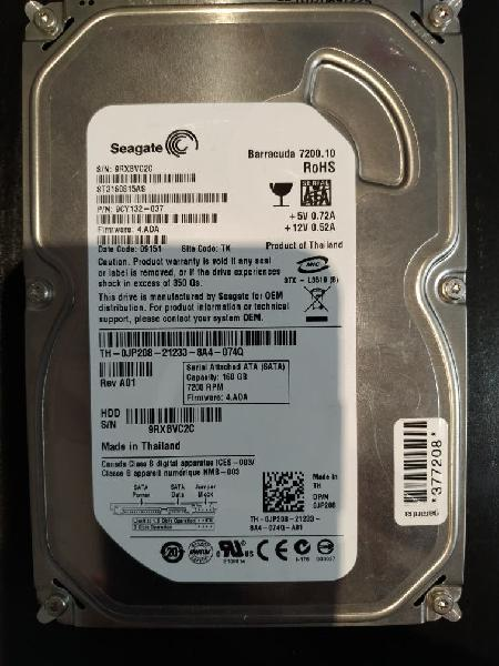Disco duro interno 160gb seagate