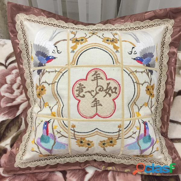 (рavo real en el jardín) funda de almohada