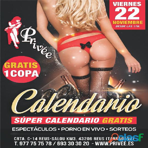 FIESTA DEL CALENDARIO EN STRIP CLUB SHOWGIRLS PRIVEE SALOU