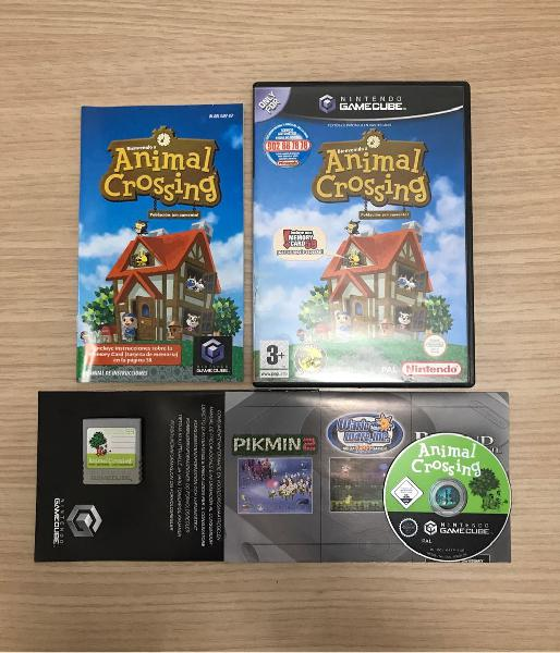 Animal crossing + memory card - gamecube completo