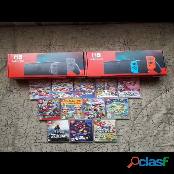 Nintendo switch a elegir con 5 juegos
