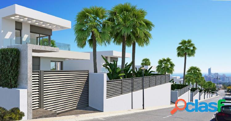 Villas modernas de obra nueva en Sierra Cortina junto a Benidorm