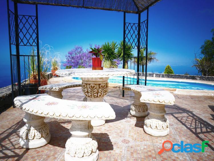 Finca única con vistas al mar, jardín y piscina en guía de isora - tenerife sur