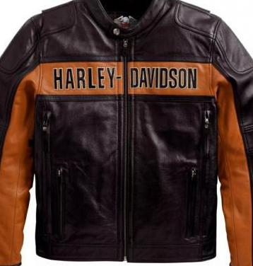 Chaqueta harley davidson orange black
