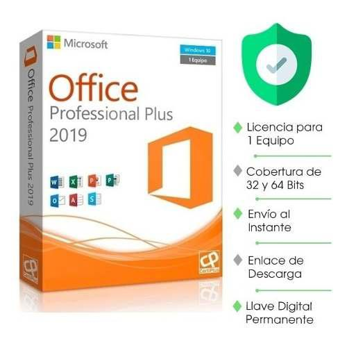 Microsoft office 2019 pro plus licencia original