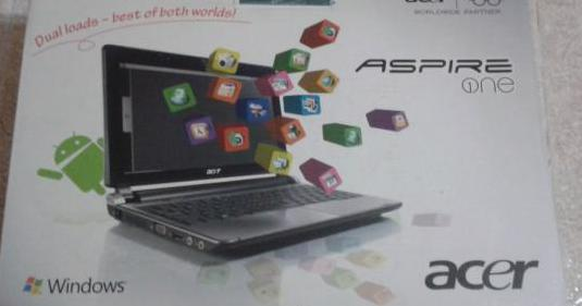 Netbook acer aspire one 10, 1/""