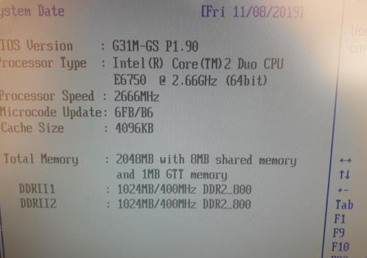 Procesador intel core 2 duo 2,66 ghz socket 775