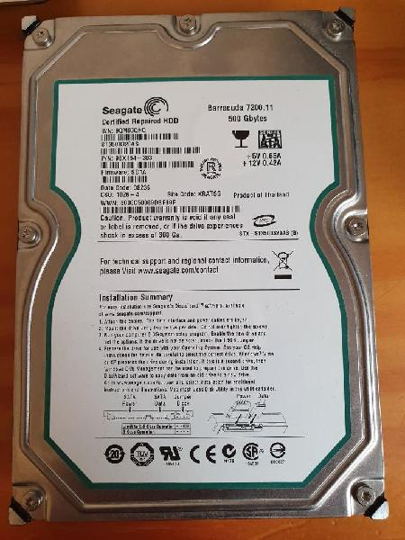 Disco duro hdd sata 500gb seagate st3500320as