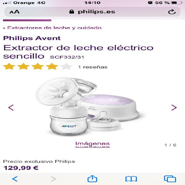 Sacaleches eléctrico philips