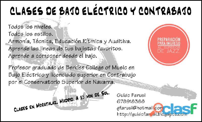 Clases de contrabajo y bajo eléctrico madrid