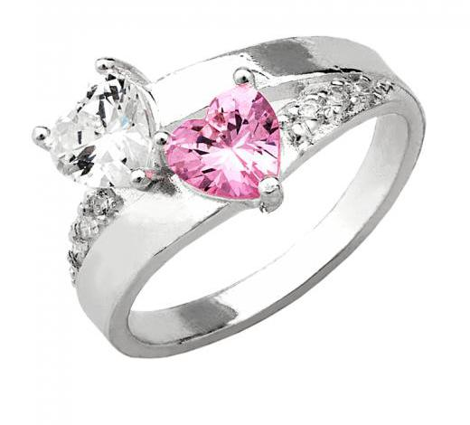 Anillo Double Heart Forever