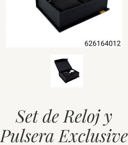 SET DE RELOJ Y PULSERA EXCLUSIVE