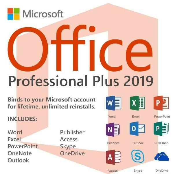 Licencia microsoft office 2019 pro plus original