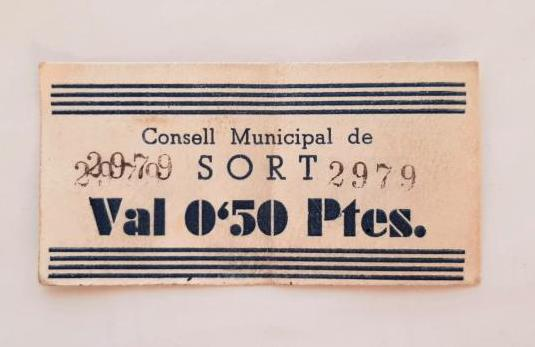 BILLETE CONSEJO MUNICIPAL SORT 50 CÉNTIMOS