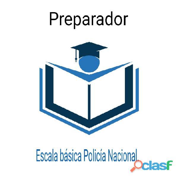 Preparador oposiciones escala básica policía nacional