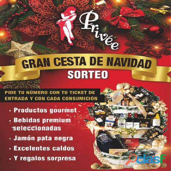 SORTEO GRAN CESTA NAVIDAD PRIVEE SALOU STRIP CLUB SHOWGIRLS