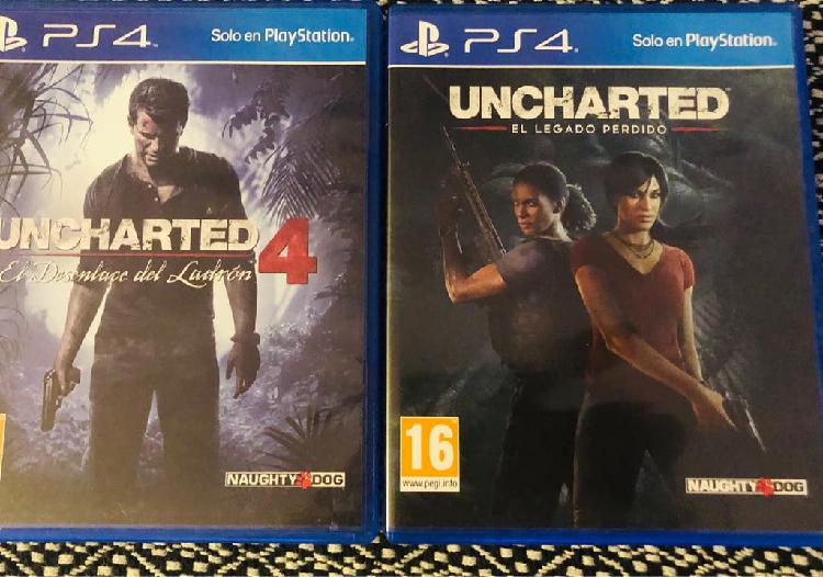 Pack uncharted 4 y uncharted: el legado perdido