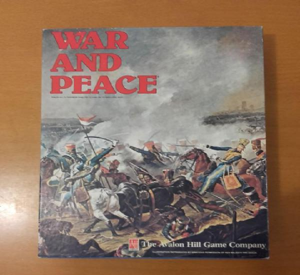 War and peace avalon hill ah wargame