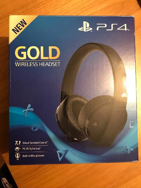Auriculares wireless ps4 sony - gold