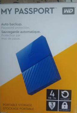 Disco duro externo 4 tb. wd my passport
