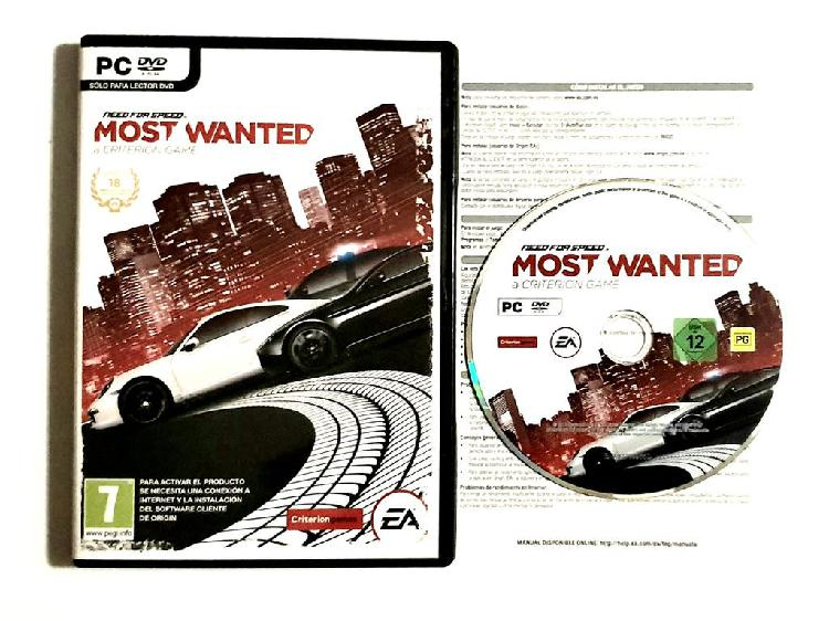 Need for speed: most wanted el videojuego, pc