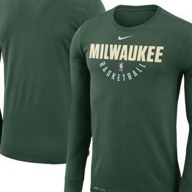 Camiseta Large NBA Milwaukee Bucks Green