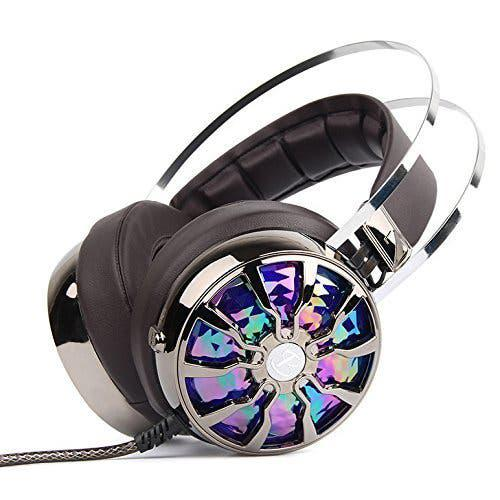 Auriculares gaming 7.1 usb pc luz led