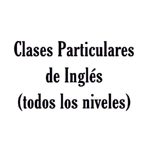 Clases particulares inglés