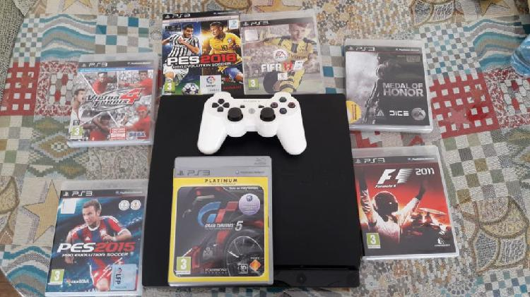 Pack play station 3, mando y juegos
