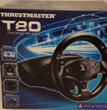 Volante thrustmaster t80 racing wheel ps4/ps3