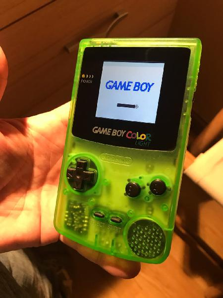 Gameboy color retroiluminada
