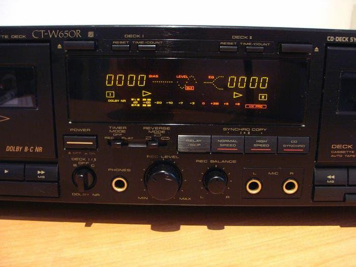 Pioneer ct-w 650 r doble cassette deck