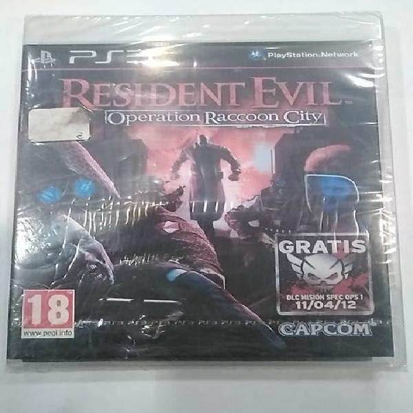 Juego sony ps3 resident evil:operation reaccoon