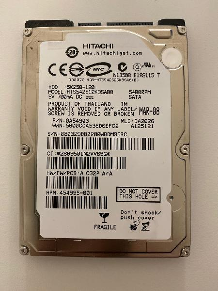 "Hdd 2.5"" 120gb sata"