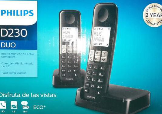 Teléfonos inalambricos philips duo d230