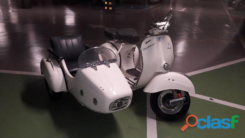 Vespa 150s mk2 1964 con sidecar preparada
