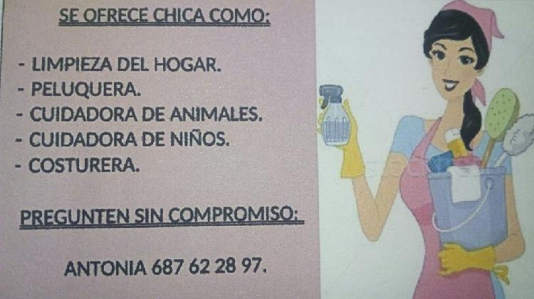 Chica responsable busca empleo