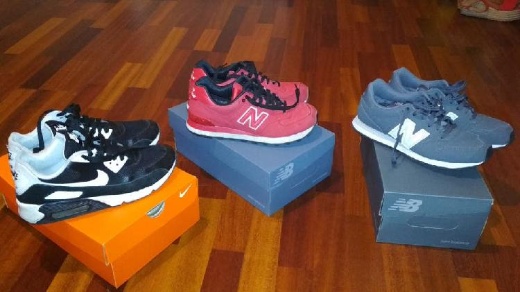 Zapatillas nike y new balance