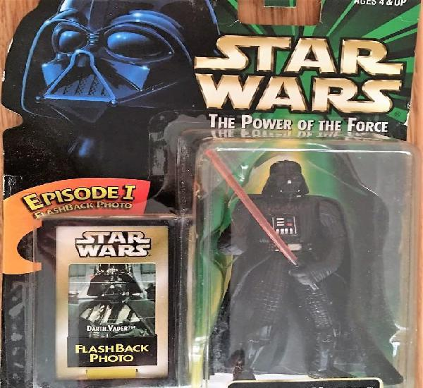 Figura star wars darth vader episode 1 potf green nueva en