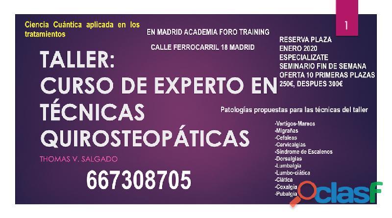 Cursos de osteopatia y homeopatia en madrid