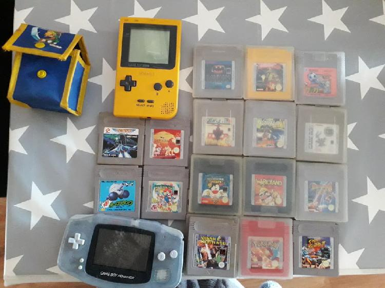 Game boy advance y game boy pocket
