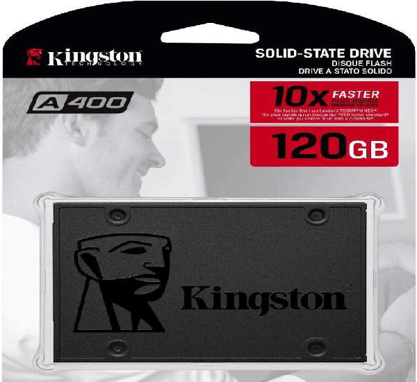 Kingston ssd a400 - disco duro sólido, 2.5, sata 3 120 gb