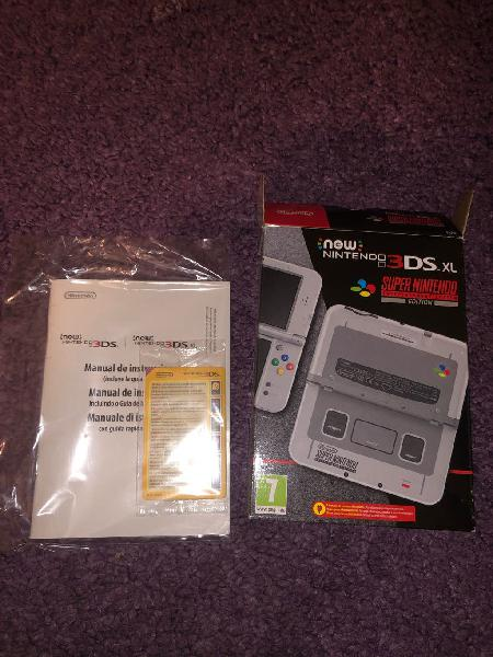 New nintendo 3ds snes edition only box