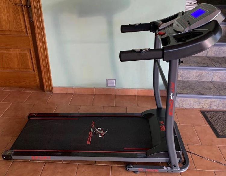 Cinta de correr plegable fit-force 1600w, 15 km/h