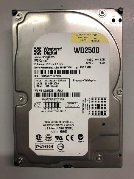 "Disco duro ide 3,5"" wd 250gb perfecto"