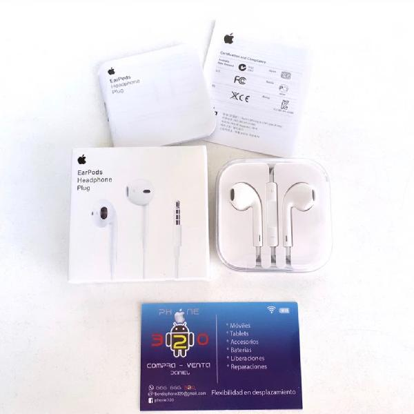 Auriculares apple earpods jack originales nuevos