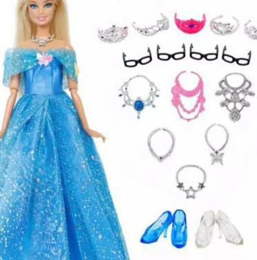 Ropa barbie. vestidos princesas disney